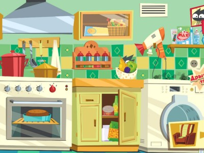 На кухне творится черт-те что