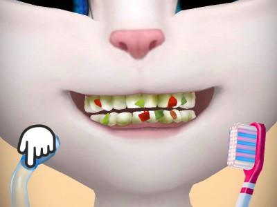 Мини-игра с чисткой зубов