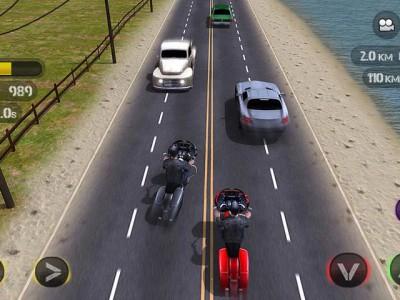 Гонка с машинами - но ты на мотоцикле