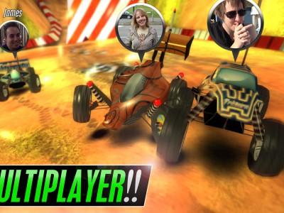 Гонки рассчитаны на мультиплеер с живыми игроками