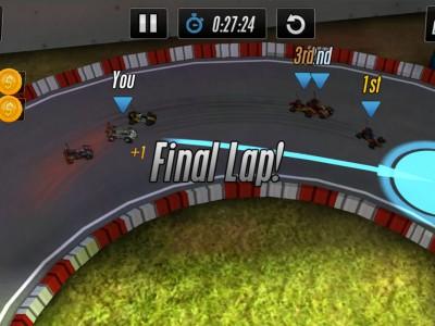 Финальный круг для гоночных машинок