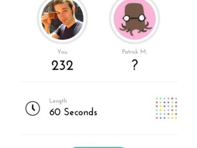 Бросаем вызов другим игрокам в TwoDots