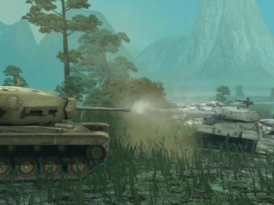 Встретились два тяжелых прем-танка -  T34 и ИС-6