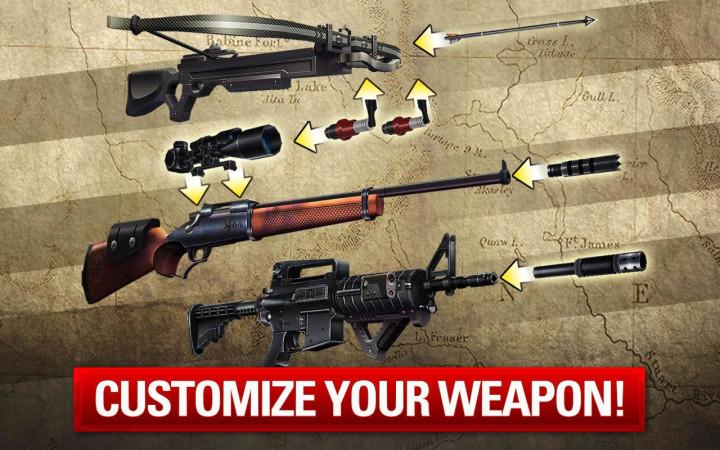 В игре много оружия